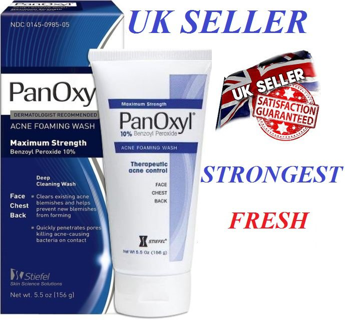 Panoxyl 10% benzoyl peroxide Acne Foaming Wash 5.5Oz Max