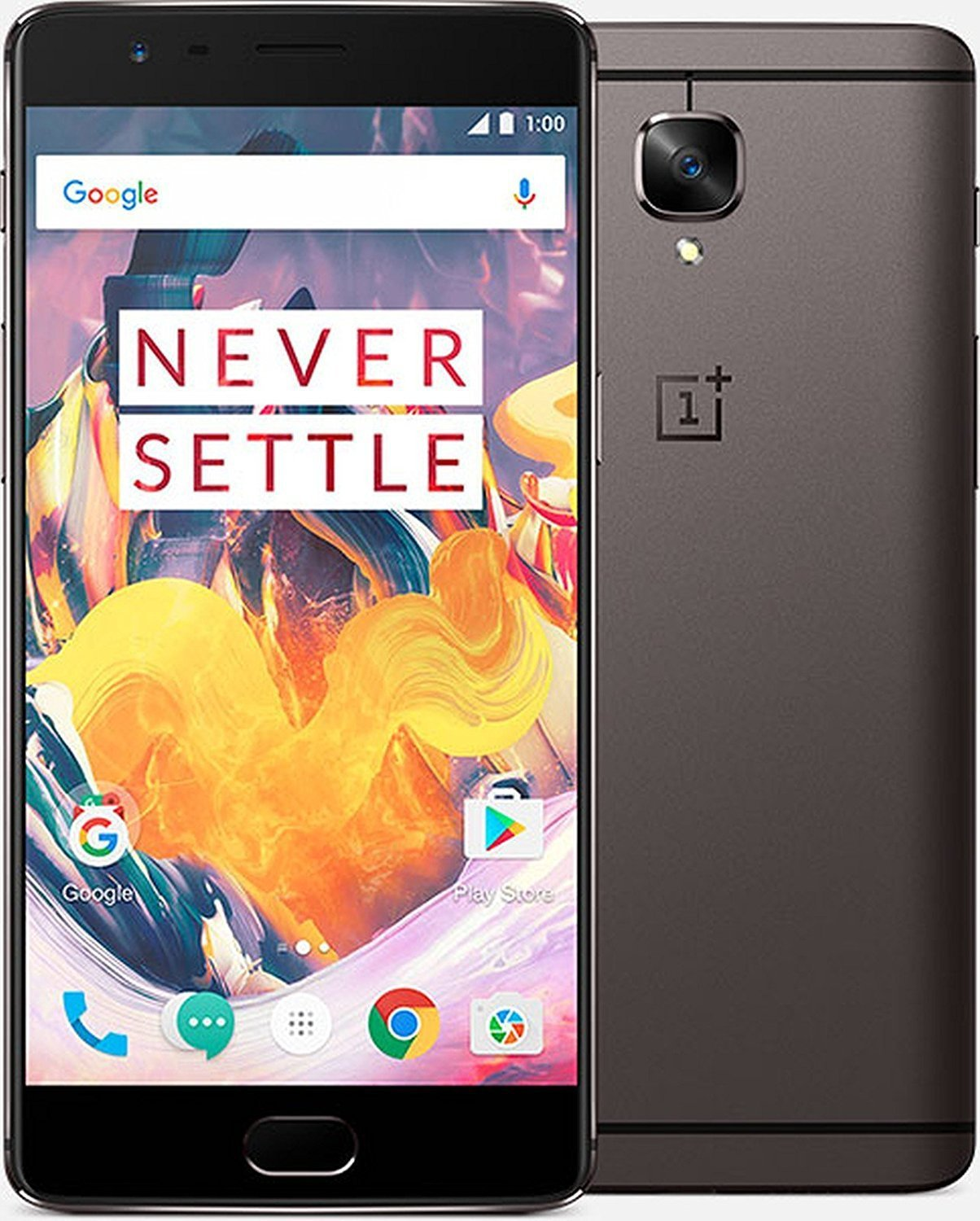 """OnePlus 3T 64GB Gray 16MP 5.5"""" LCD 6GB RAM 16MP Android Phone by Fed-ex"""