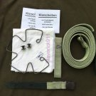 WW II  German gas mask Strap and spring. Steel. COMPLETE SET