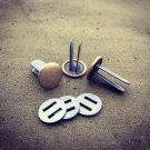 NEW  WW2 German rivets and washers for helmet.Steel and Bras. Hallmarks choice