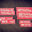 WW2 German  Set of stencils on the box 15StHgr 24