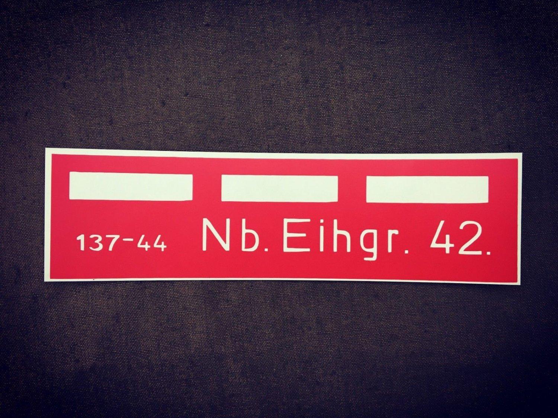 WW2 German  Stencil for NebelEihandgranate 42