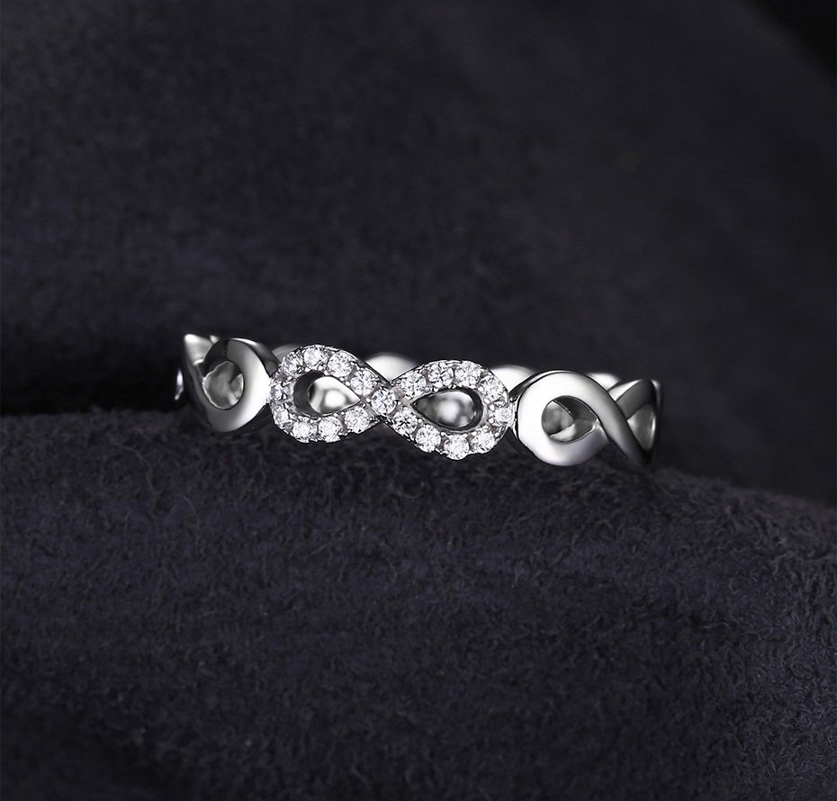 Infinity Forever Ring Pure 925 Sterling Silver For Women Size 6