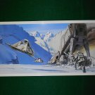 Vintage Star Wars Art 1980 ESB Ralph McQuarrie Portfolio Print #11 AT-AT is Down