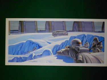 Vintage Star Wars Art 1980 ESB Ralph McQuarrie Portfolio Print #6 Assault on Hoth