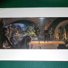 "Vintage Star Wars 1982 Art ROTJ Ralph McQuarrie Print #3 Luke ""Jedi Knight"" at Jabba"