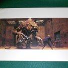 Vintage Star Wars Art 1982 ROTJ Ralph McQuarrie Print #6 Luke vs. Rancor Monster