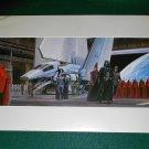 Vintage Star Wars Art 1982 ROTJ Ralph McQuarrie Print #10 Darth & Imperial Shuttle