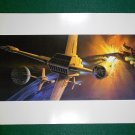 Vintage Star Wars Art 1982 ROTJ Ralph McQuarrie Portfolio Print #19 The B-Wing in Flight