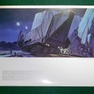 Vintage Star Wars Art 1977 ANH Ralph McQuarrie Portfolio Print #2 Jawa's Sandcrawler