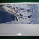 Vintage Star Wars Art 1977 ANH Ralph McQuarrie Folio Print #5 X-Wing & TIE in the Trench