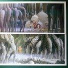 "Vintage Star Wars Art 1980 ESB Ralph McQuarrie ""Yoda and Luke"" Lot Prints #16 & 17"