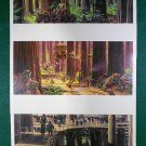 "Vintage Star Wars Art 1982 ROTJ Ralph McQuarrie ""Ewocks on Endor"" Print Lot #11,#12 & #14"
