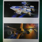 Vintage Star Wars Art 1982 ROTJ Ralph McQuarrie 2 Print Lot Rebel Fighters #17 & #19