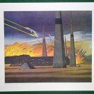 Battlestar Galactica Ralph McQuarrie Portfolio Art Print #8 The Battle Continues on Caprica
