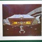 Battlestar Galactica Ralph McQuarrie Portfolio Art #4 Galactica Landing Bay