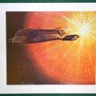 Battlestar Galactica Ralph McQuarrie Portfolio Print #24 Galactica Leaves The Quadrant