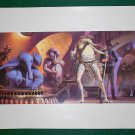 Vintage Star Wars Art 1982 ROTJ Ralph McQuarrie Print #4 Sy Snootles & Max Rebo