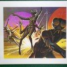 Battlestar Galactica Ralph McQuarrie Portfolio Art Print #22 Battle With Ovions