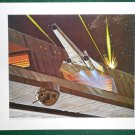 Battlestar Galactica Ralph McQuarrie Portfolio Print #23 Viper Defends Galactica