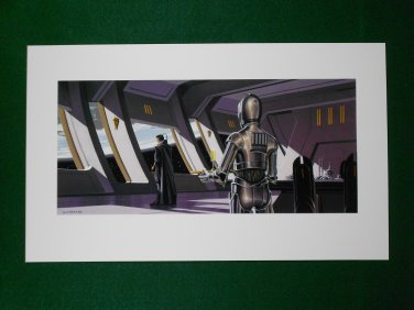 Star Wars Phantom Menace 1999 Doug Chiang Portfolio Print #2 Obi-Wan
