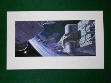 Star Wars Phantom Menace 1999 Doug Chiang Folio Art Print #3 Republic Cruiser