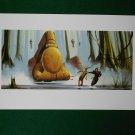 Star Wars Phantom Menace 1999 Doug Chiang Portfolio Print #6 Jar Jar & Qui-Gon