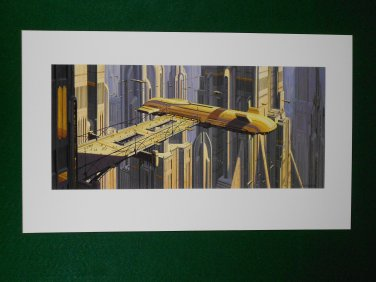 Star Wars Phantom Menace 1999 Doug Chiang Portfolio Print #14 Theed City