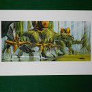 Star Wars Phantom Menace 1999 Doug Chiang Portfolio Print #16 Gungan Battle