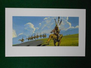 Star Wars Phantom Menace 1999 Doug Chiang Portfolio Print #19 Great Grass Plains