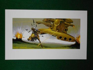 Star Wars Art Phantom Menace 1999 Doug Chiang Portfolio Print #20 The Final Battle