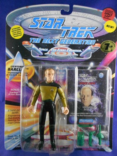Star Trek STNG 7th Season - 1994 Lieutenant Barclay - Playmates � MINMP � W/Pog