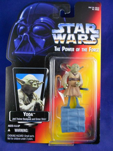 Star Wars POTF 2 1995 Yoda �Jedi Master� - Red Card - MIMP Power of the Force