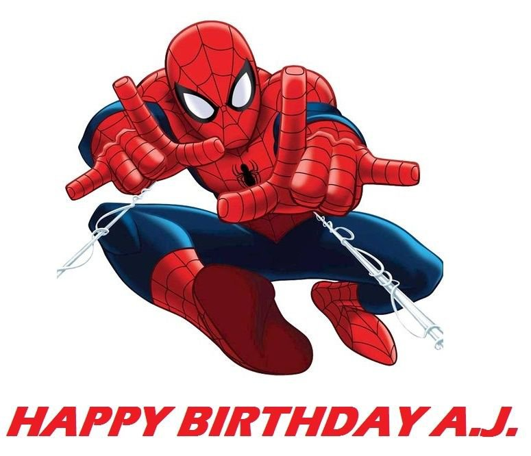 Spiderman Action Edible image Cake topper decoration