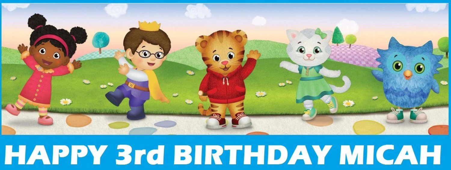 Daniel Tiger Neighborhood Party Edible image Cake topper