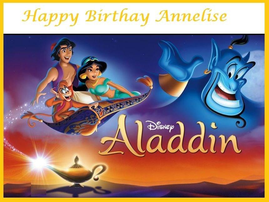Aladdin Edible image Cake topper decoration