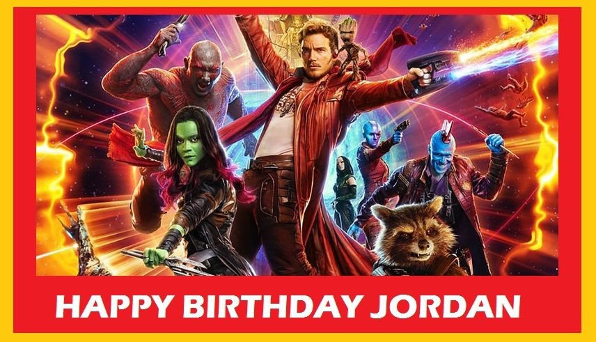 Guardians of the Galaxy Movie Edible Cake topper decoration