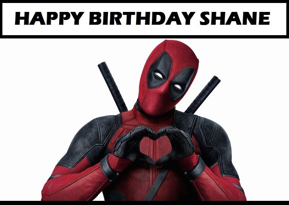 DeadPool movie  Edible Cake topper decoration