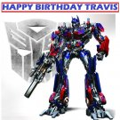Transformers Optimus Prime Party Edible image Cake topper decoration
