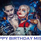 Suicide Squad Joker and Harley Quinn Edible Cake topper decoration