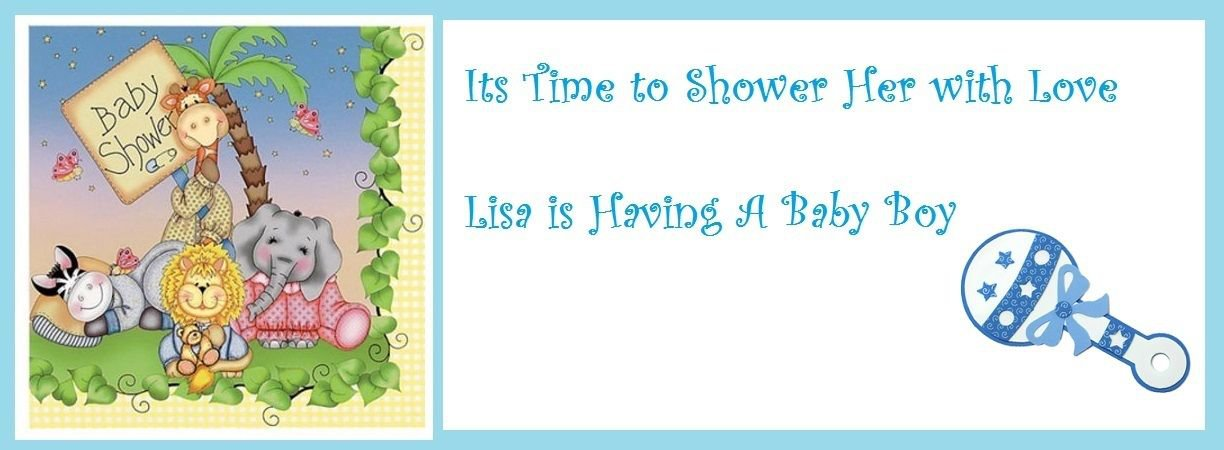Bazooples Baby Shower Edible Cake topper decoration