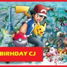 POKEMON X and Y Pikachu and Ash Party Edible image Cake topper decoration