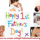 Custom Father's Day w/ Your Own Pics Edible image Cake topper decoration