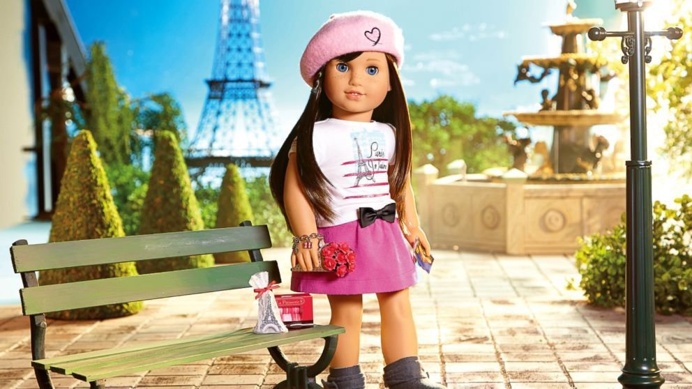 American Girl in Paris Edible image Cake topper decoration