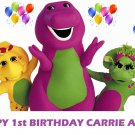 Barney and Friends Baby Bop Party Edible image Cake topper