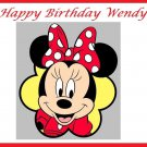 Minnie Mouse Edible image Cake topper decoration