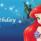 Little Mermaid Party Edible  image Cake topper decoration
