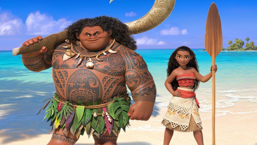 Disney Princess Moana and Maui Edible image Cake topper decoration