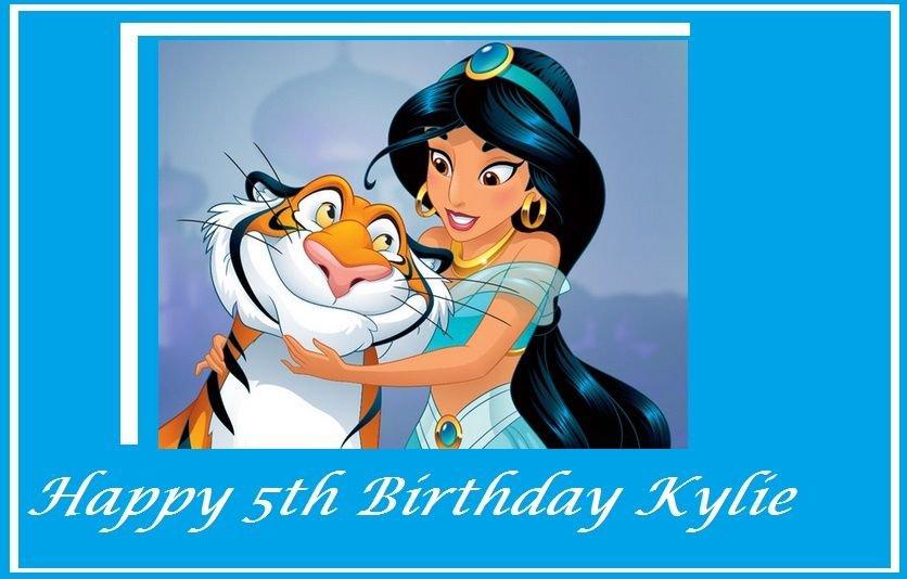 Aladdin Princess Jasmine Edible image Cake topper decoration