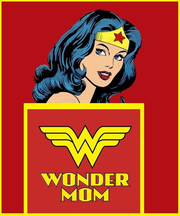 Mother's Day  Wonder Woman Edible image Cake topper decoration